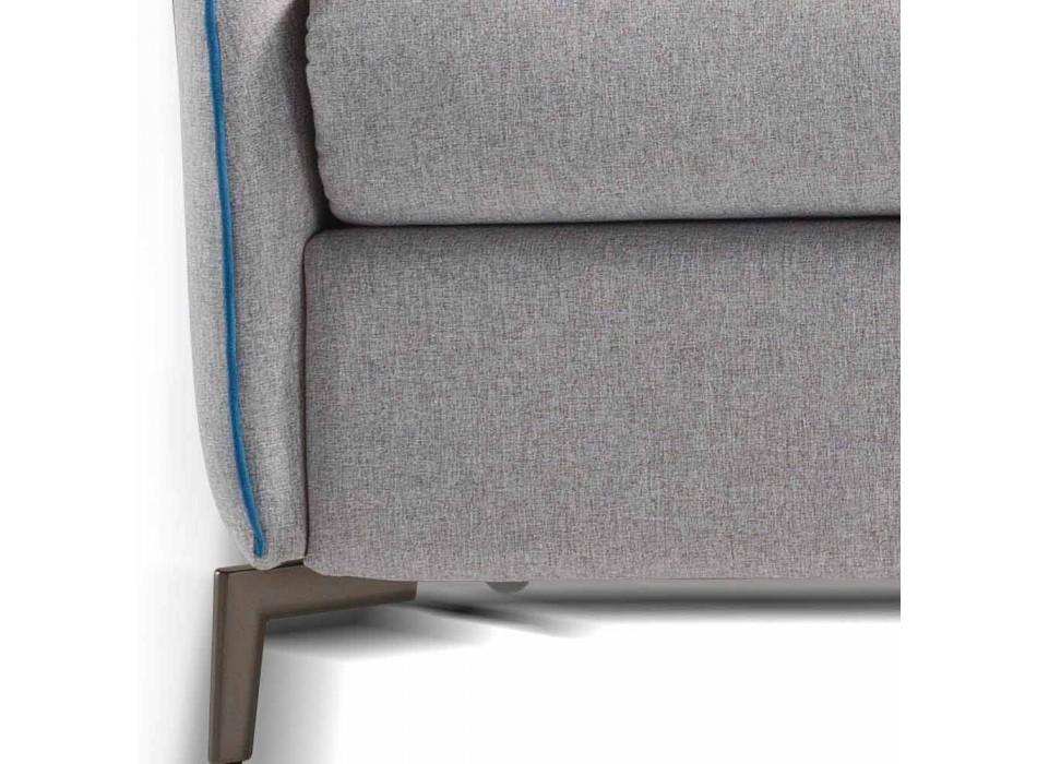 Divano 2 posti maxi L.165cm ecopelle/tessuto made in Italy Erica