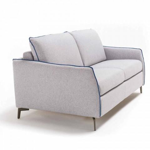 Divani Moderni In Ecopelle.Divano 3 Posti Maxi L205 Cm Design Moderno In Ecopelle Tessuto Erica