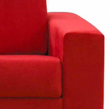 Divano a 2 posti maxi moderno in ecopelle/tessuto made in Italy Mora