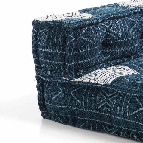 Divano a Due Posti di Design Etnico in Tessuto Patchwork – Fibra