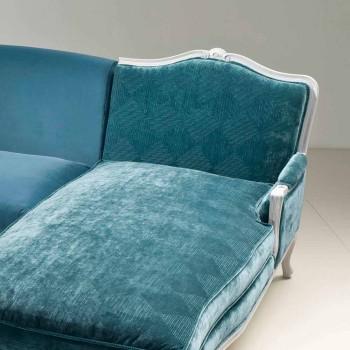 Divano ad angolo design classico di lusso, made in Italy,Narciso