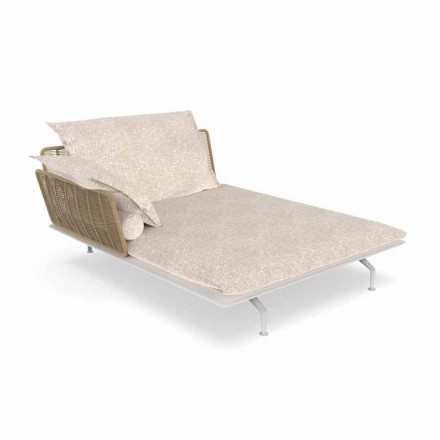 Divano Chaise Longue da Giardino in Alluminio e Tessuto – Cruise Alu by Talenti