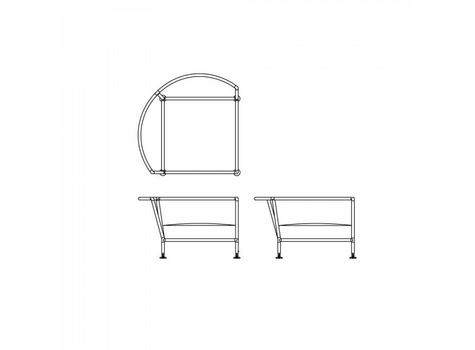 Divano Circolare per Esterno in Tessuto Bianco Design Made in Italy - Ontario4