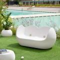 Divano dondolo da esterno Slide Blossy design moderno fatto in Italia