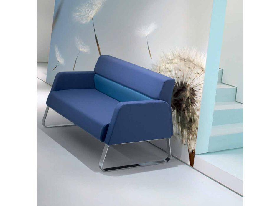 Divano da attesa in similpelle di design made in Italy Ennio