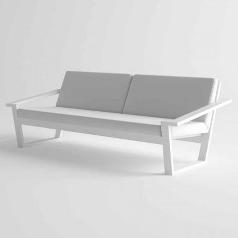 Divano da Esterno 2 o 3 Posti in Alluminio e Tessuto Design Moderno - Louisiana