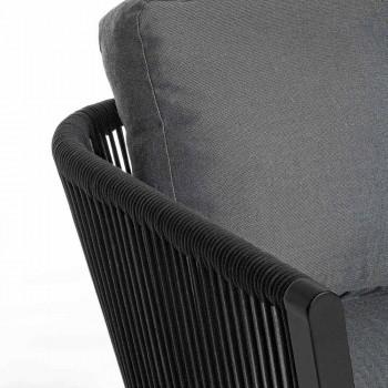 Divano da Esterno a 3 Posti di Design in Alluminio e Tessuto Homemotion - Morena