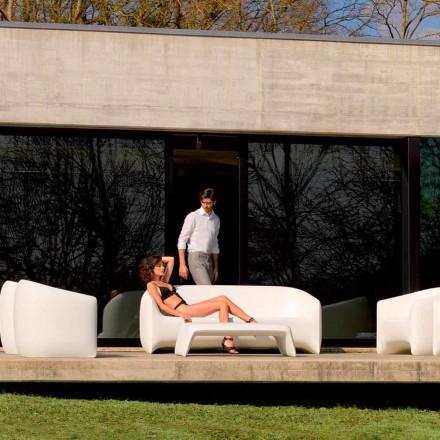 Divano da esterno di design in resina di polietilene Blow by Vondom