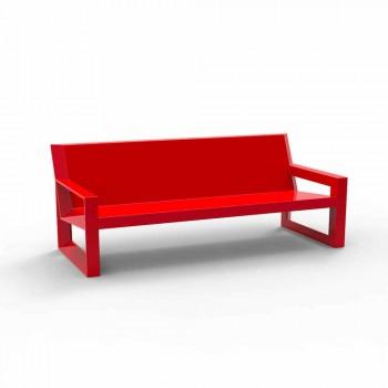 Divano da esterno Frame by Vondom, in resina di polietilene, di design