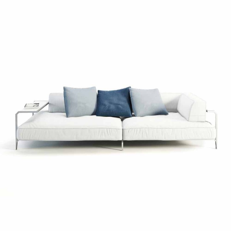 Divano da Esterno Imbottito in Tessuto Design Moderno Made in Italy - Arkansas