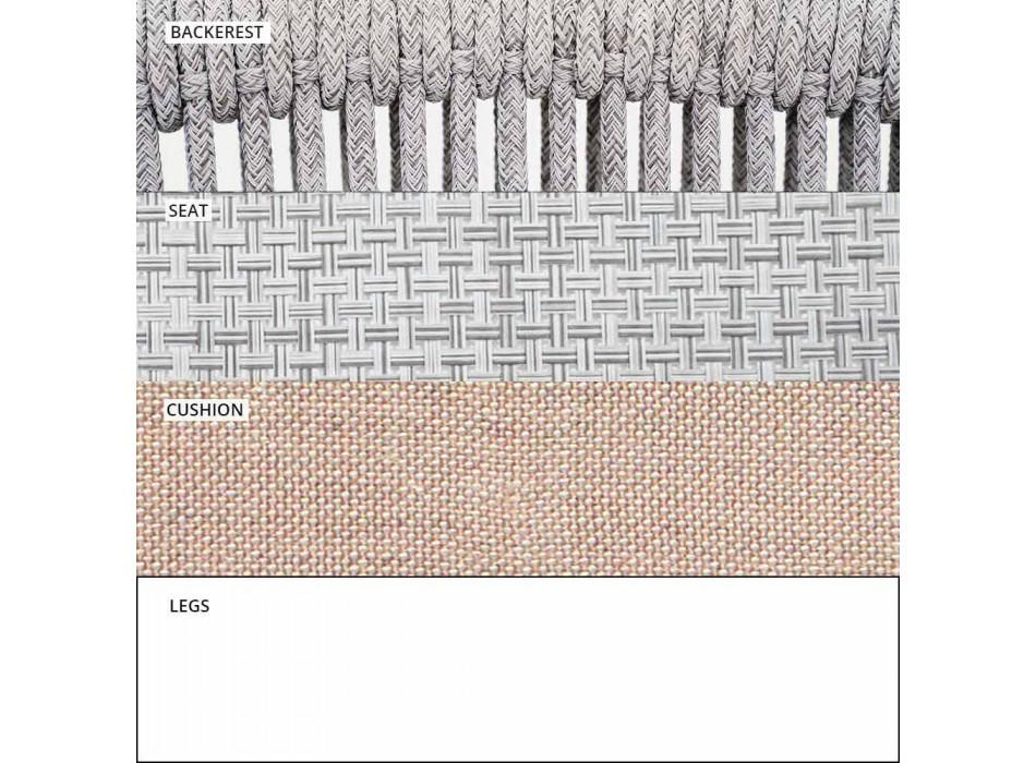 Divano da Esterno Impilabile a Due Posti Tessuto Imbottito – Smart by Varaschin
