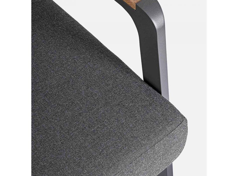 Divano da Esterno in Tessuto con Struttura in Alluminio Homemotion - Cara