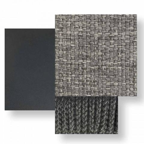Divano da Esterno Modulare Centrale in Tessuto e Alluminio – Scacco by Talenti