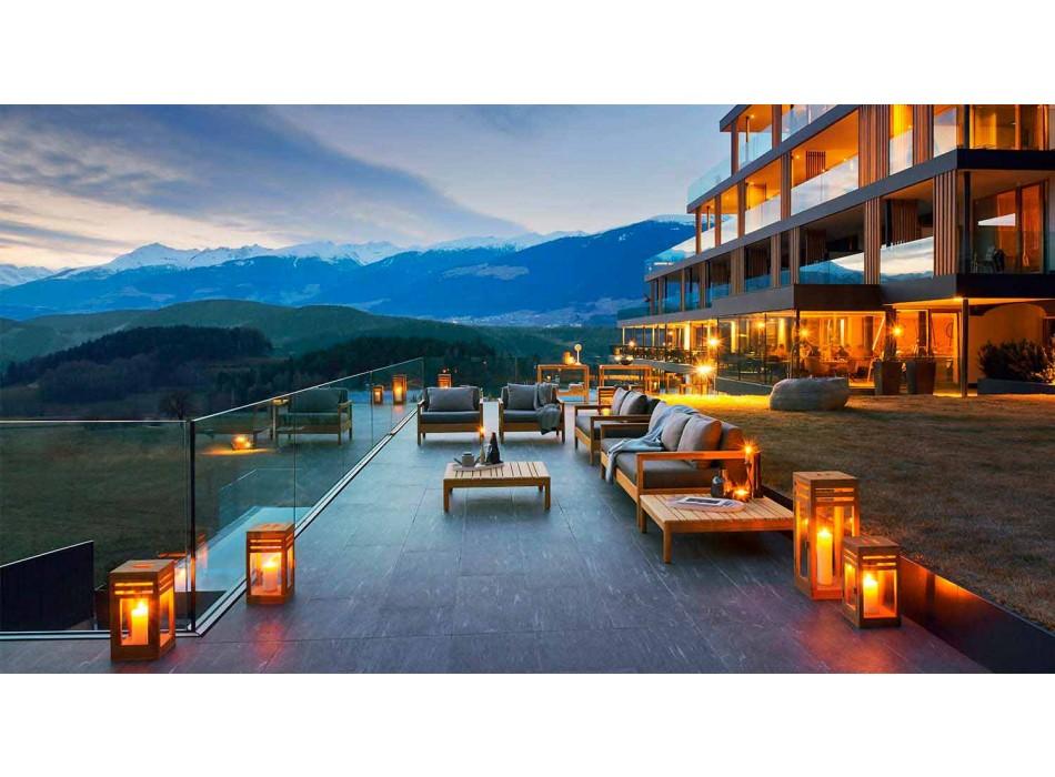 Divano da esterno Varaschin Bali moderno con cuscini imbottito