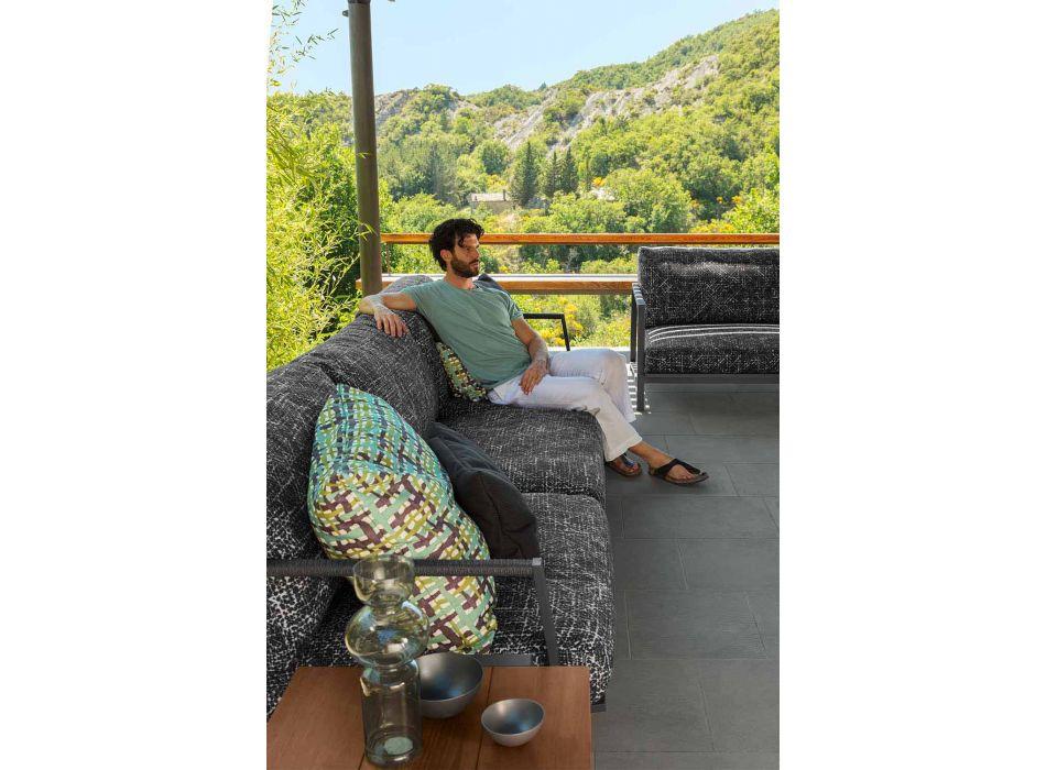 Divano da Giardino 3 Posti in Alluminio e Tessuto – Cottage Luxury by Talenti