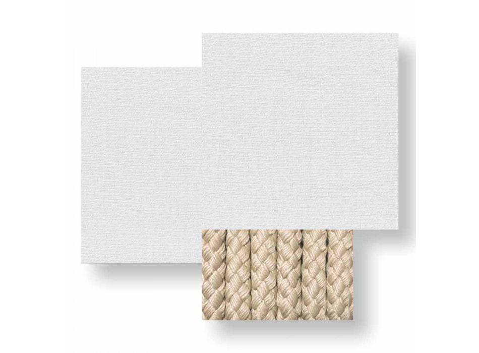 Divano da Giardino 3 Posti in Tessuto Bianco, Beige o Grigio – Cliff Decò Talenti