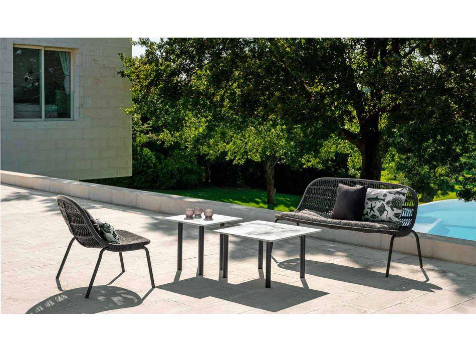 Divano da Giardino Due Posti in Alluminio e Tessuto – Panama by Talenti