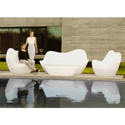 Divano da giardino in polietilene design moderno Sabinas by Vondom