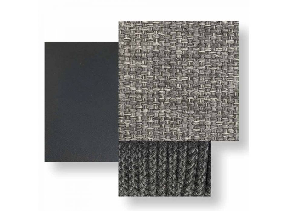 Divano da Giardino Modulare Obliquo Destro Tessuto e Alluminio – Scacco Talenti