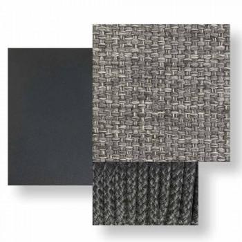 Divano da Giardino Modulare Sinistro in Tessuto e Alluminio – Scacco by Talenti