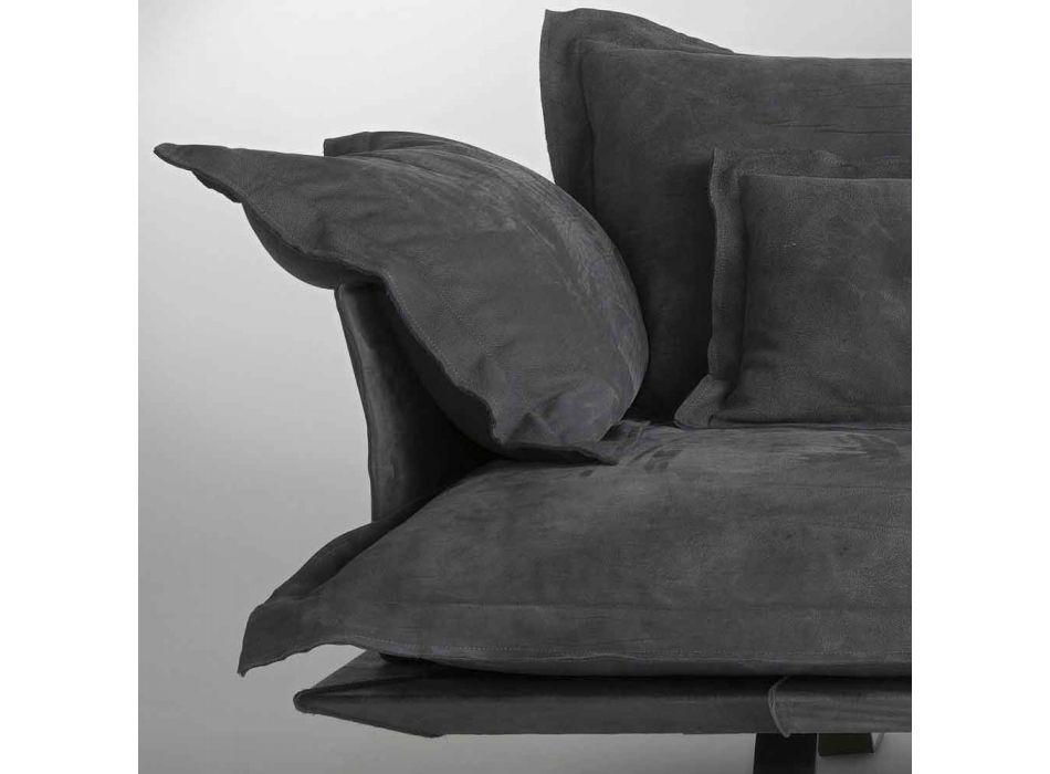 Divano design moderno in pelle Shita, 170, 220 oppure 250 cm