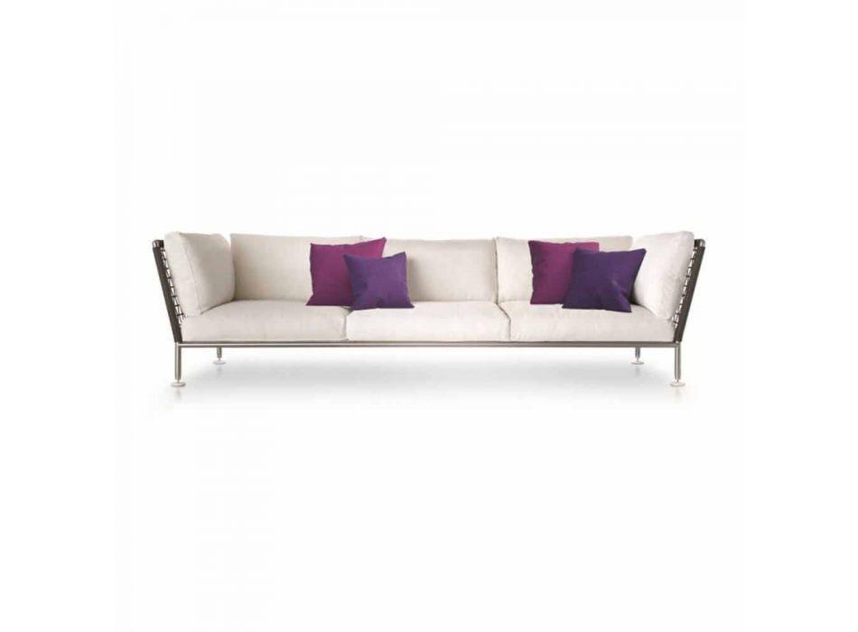 Divano di Design Moderno da Esterno in Tessuto Bianco Made in Italy - Ontario