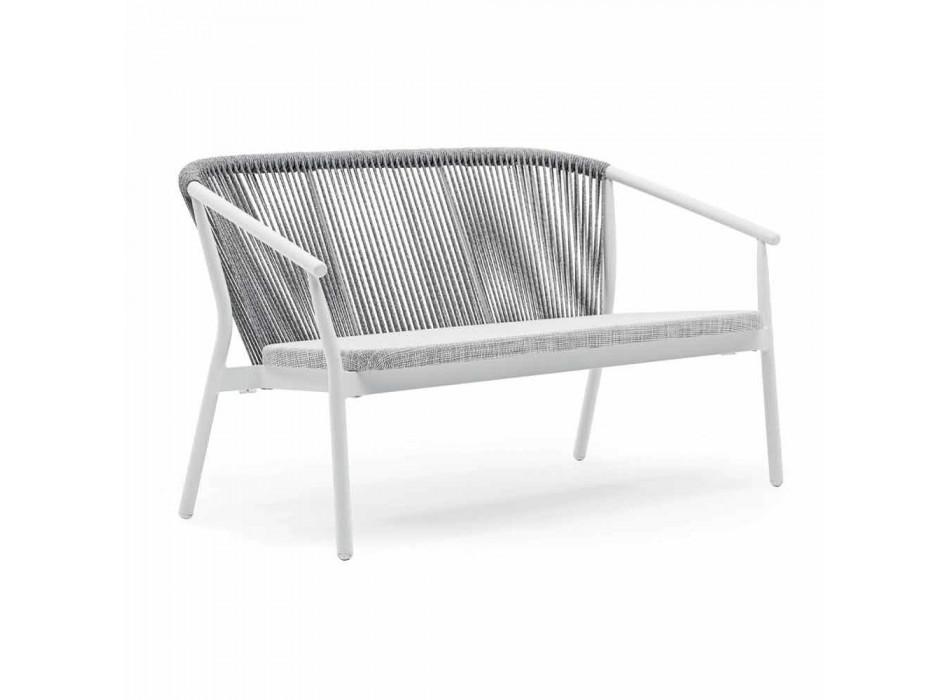 Divano Due Posti da Giardino Impilabile Alluminio e Tessuto – Smart By Varaschin