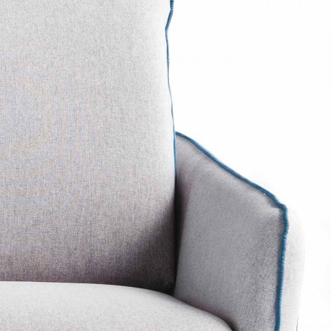 Divano due posti design moderno L.145 cm ecopelle/tessuto Erica