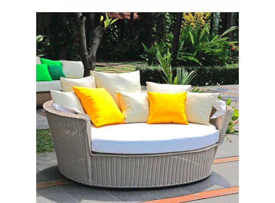 Divano isola relax da giardino con intreccio fatto a mano Hector, design moderno