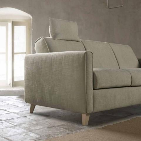 Divano letto di design moderno in tessuto fatto in Italia Filippo