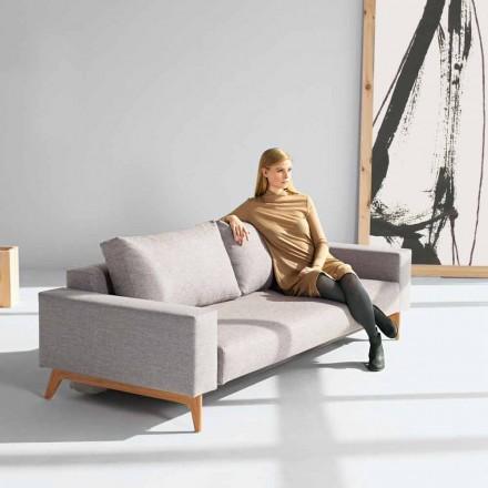 Divano letto grigio moderno design scandinavo Idun by Innovation