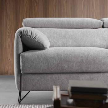 Divano letto in tessuto sfoderabile di design made in Italy Vittorio