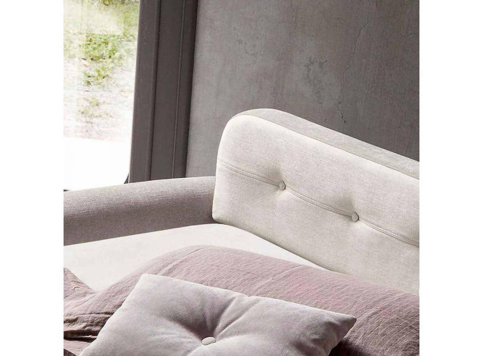 Divano Letto Matrimoniale in Tessuto di Design Realizzato in Italia - Anemone