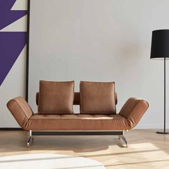 Divano letto moderno imbottito Ghia by Innovation con gambe cromo