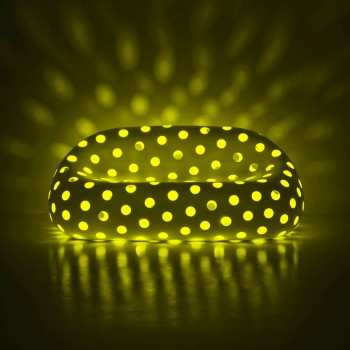 Divano Luminoso da Esterno in Polietilene con LED Made in Italy - Asso