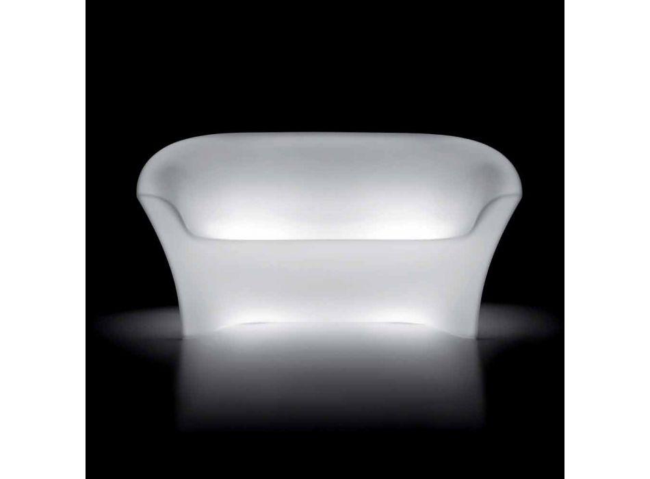 Divano Luminoso da Esterno in Polietilene con Luce LED Made in Italy - Conda