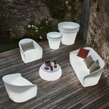 Divano Luminoso da Giardino in Polietilene con LED Made in Italy - Luglio