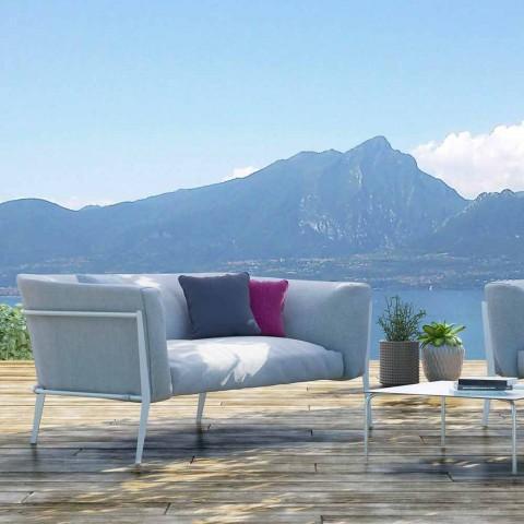 Divano Moderno da Esterno o Interno Sfoderabile Design Made in Italy - Carminio
