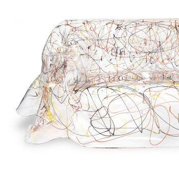 Divano Plexiglass Bianco o Multicolor Riciclabile Interno Esterno - Jolly