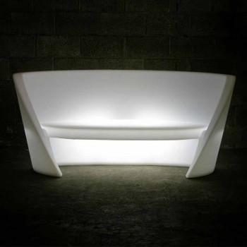 Divano polietilene di design Slide Rap da interno luminoso made Italy