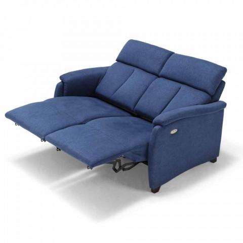 Divano Con Seduta Relax.Divano Relax Elettrico 2posti 2 Sedute Elettriche Gelso Design Moderno