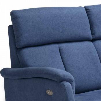 Divano relax elettrico 2posti,2 sedute elettriche Gelso,design moderno