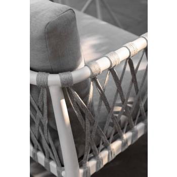 Divano Tre Posti da Giardino Moderno in Allumino e Tessuto – Sofy by Talenti
