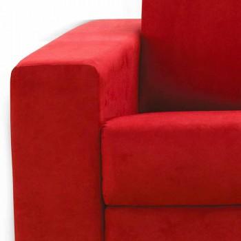 Divano tre posti design moderno in ecopelle/tessuto made in Italy Mora