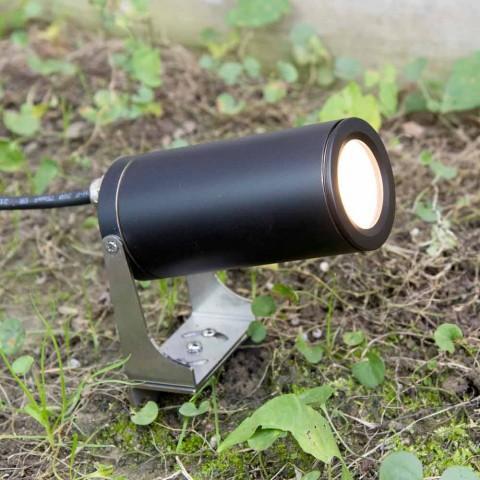 Faretto da Giardino in Alluminio Anodizzato Nero con LED Made in Italy - Forla