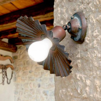 Faretto plafoniera in ottone anticato Civetta