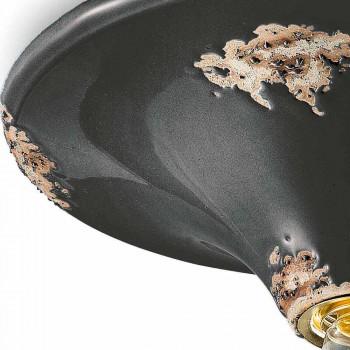 Faretto vintage da soffitto artigianale in ceramica Erica Ferroluce