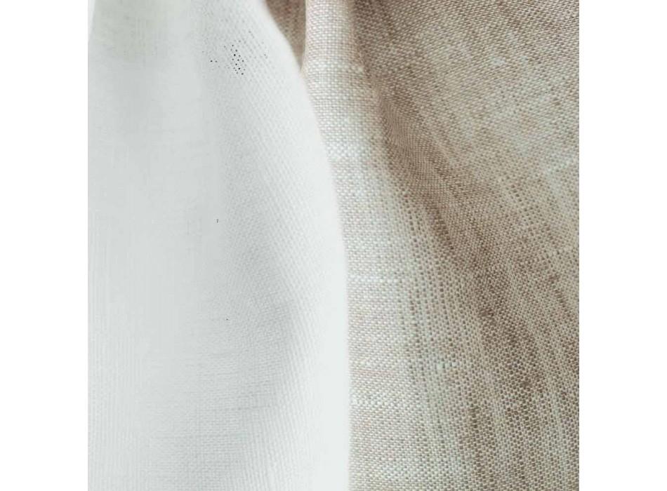 Federa Cuscino in Lino Bicolore Bianco Panna e Naturale Made in Italy – Blessy