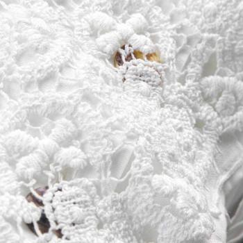 Federa di Lino con Pizzo Bianco per Letto Design di Lusso Made in Italy - Kiss