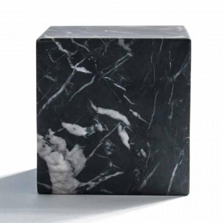 Fermacarte Cubo Moderno in Marmo Nero Marquinia Satinato Made in Italy - Qubino